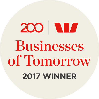 Westpac Business of Tomorrow 2017 Award