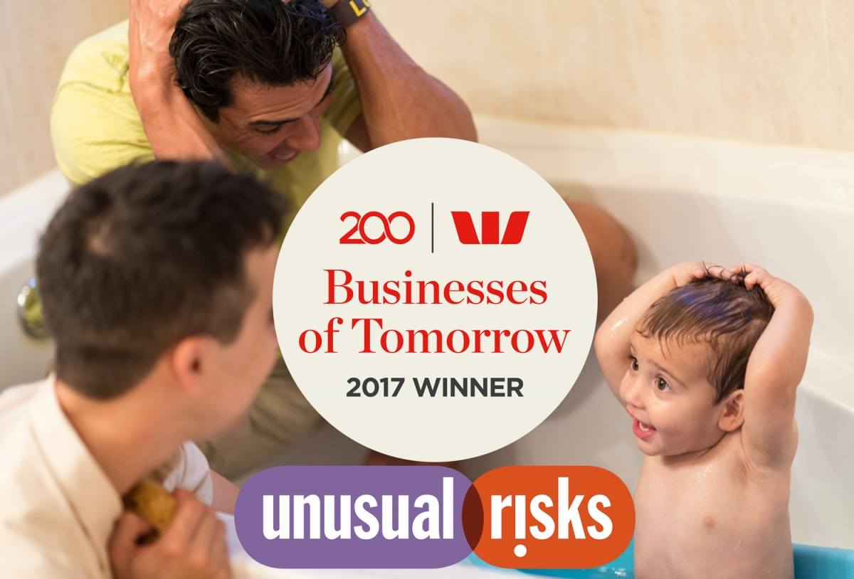 Unusual risks receives Westpac Businesses of Tomorrow awards